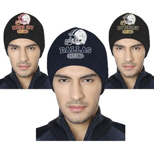 Men's Game Day Football Beanies Winter Hats