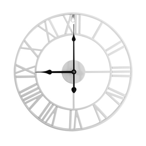 Roman Numeral Wall Clock | MandW White