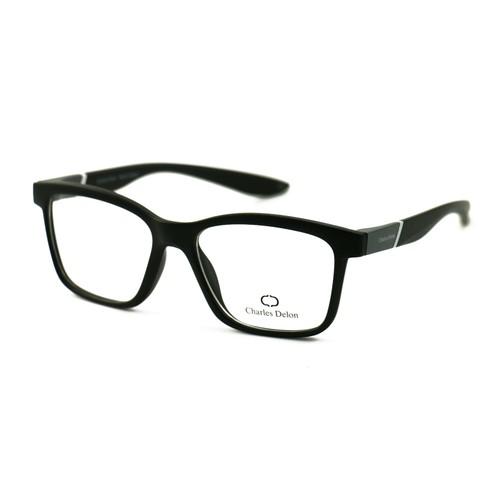 Charles Delon Men's Eyeglasses 7112C C3 Matte Black/Grey White 53 18 145 Plastic
