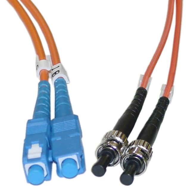 Fiber Optic Cable, SC / ST, Multimode, Duplex, 62.5/125, 2 meter (6.6 foot)