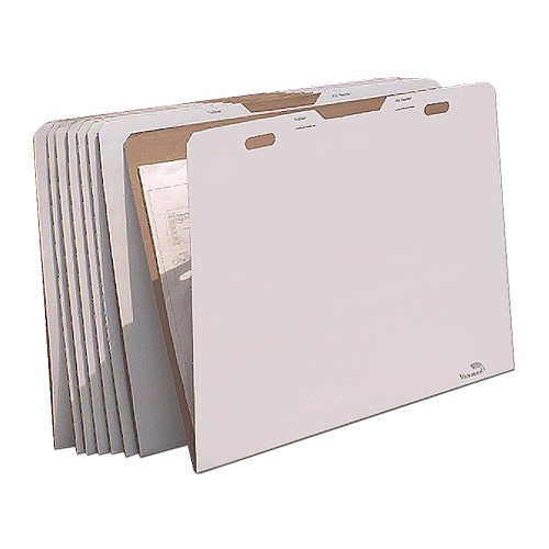 "AOS Flat Storage File Folders - Stores Flat Items up to 30""x42"" - Pack of 8"