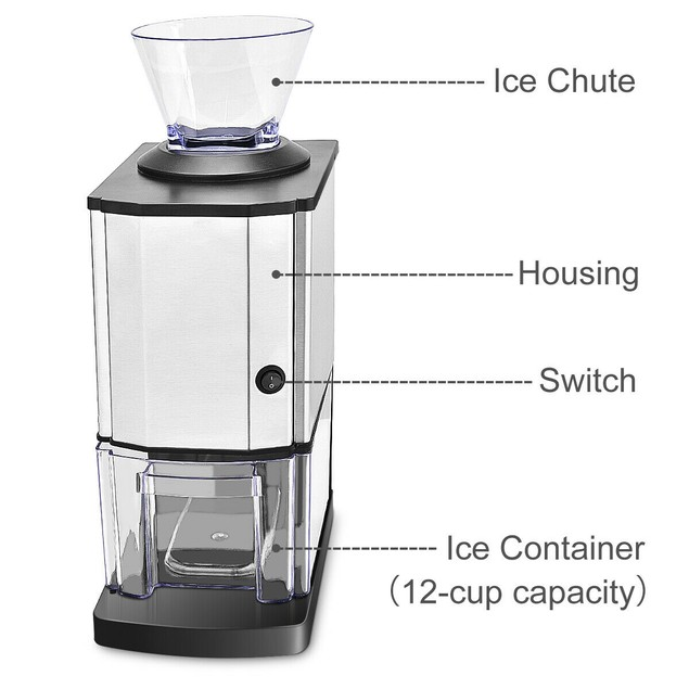 Costway Electric Stainless Steel Ice Shaver
