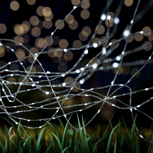 Outdoor Starry Solar String Lights- Solar Powered Cool White FairyLights