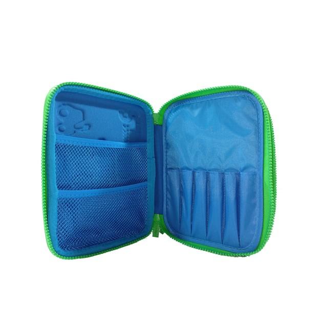 Smilykiddos Double Compartment Pencil Blue