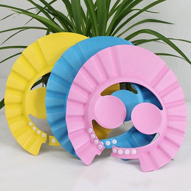 Baby Kid Shampoo Shower Bathing Bath Protect Ear Wash Hair Cap Hat