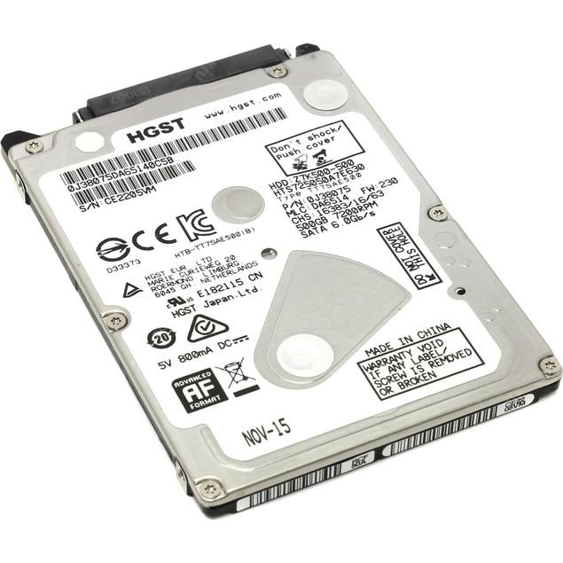 """Hitachi Travelstar 500GB SATA 7200RPM 32MB 2.5"""" Hard Drive"""