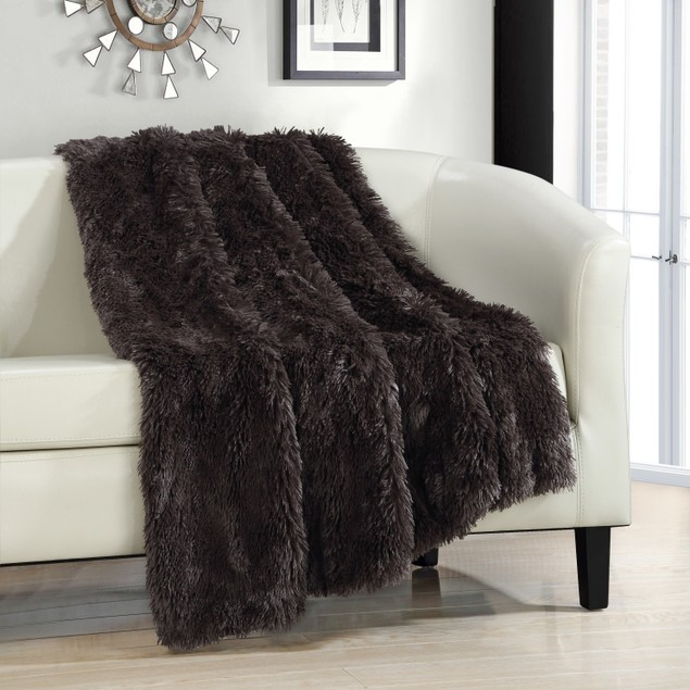 Chic Home Ultra Plush Shaggy Faux Fur Throw Blanket