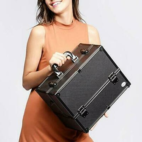 Professional Makeup Train Case Cosmetic Cases Makeup Storage Organizer