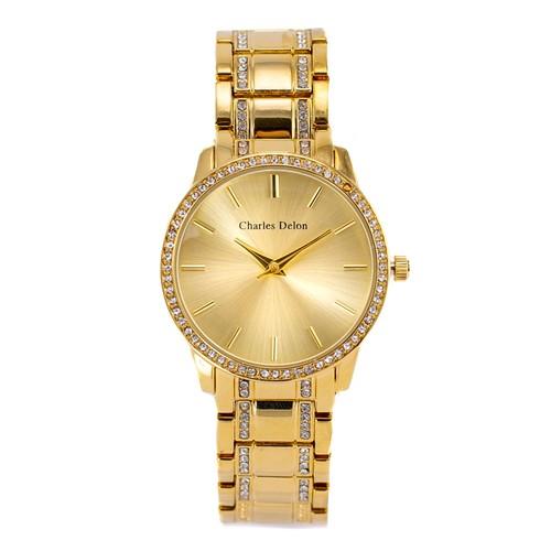 Charles Delon Women's Watch 5855 LGCW Gold/Gold Stainless Steel Quartz Round