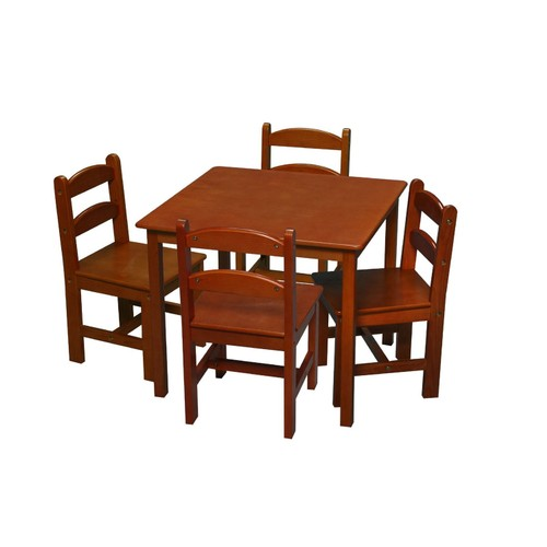 Gift Mark Sturdy Honey Square Table With 4 Chairs