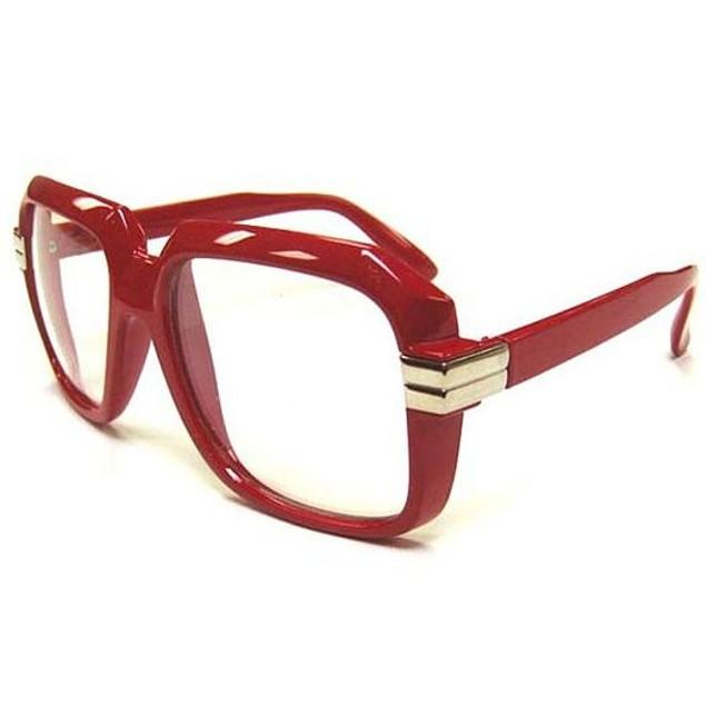 Oversized Red Hip Hop Glasses