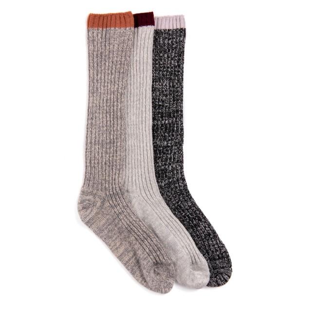 MUK LUKS ® Women's 3 Pair Pack Fluffy Slouch Socks