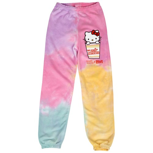 Hello Kitty x Cup Noodles Character Tie Dye Print Joggers