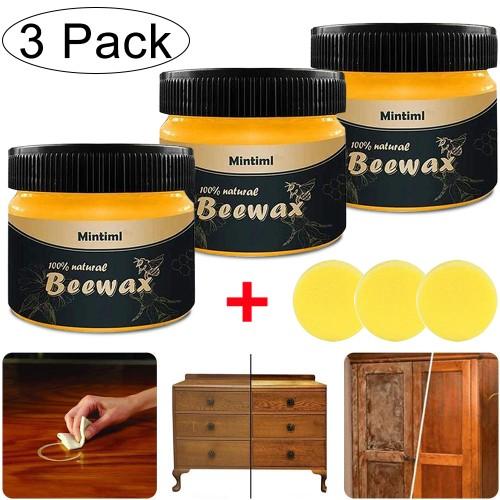 3 Pcs Wood Seasoning Beewax Furniture Polish Natural Beeswax Home Use