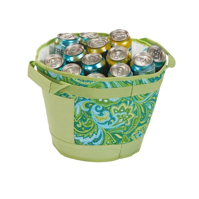 Picnic Plus Austin Ice Bucket Green Paisley