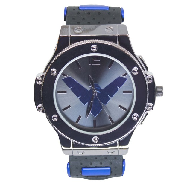 Nightwing Symbol Watch with Silicone Adjustable Strap
