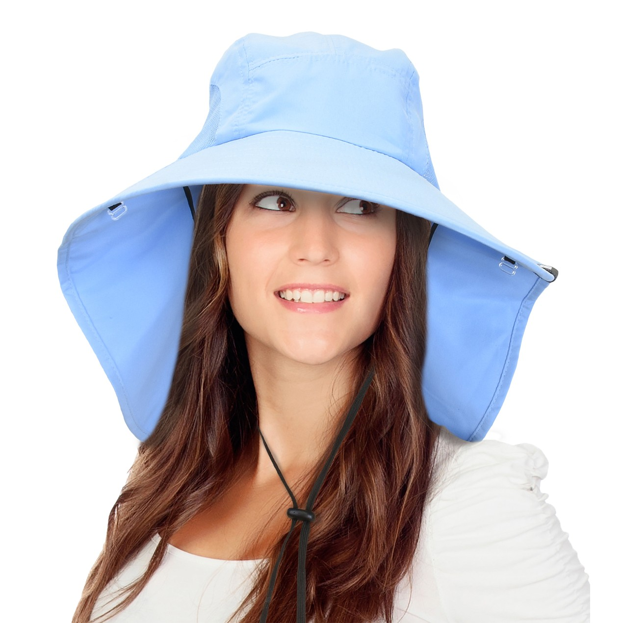 4a88a31c6cd12 ... Solaris Fishing Hiking Hat UV Sun Protection Outdoor Neck Cap Wide Brim  ...