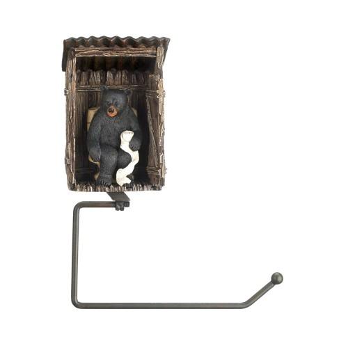 Koehler Home Decor Outhouse Bear Toilet Paper Holder