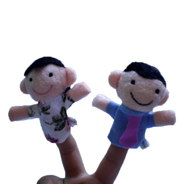 6Pcs New Soft Family Member Puppet Baby Finger Plush Toys