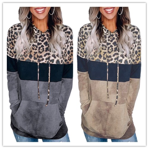 Leopard Hoodie Shirt- 2 Colors