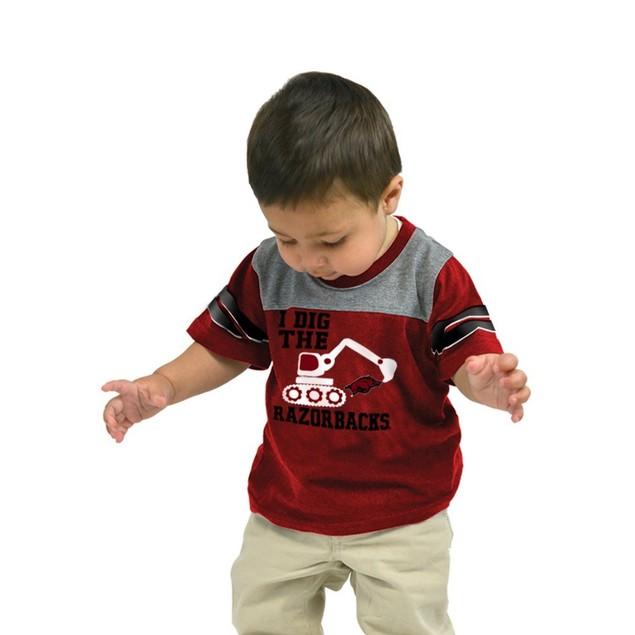 Clemson University Tigers Infant T-Shirt Striped Sleeve Dig 'Em Tee