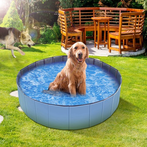 4 x 4 x 1ft Foldable Pet Swimming Pool PVC