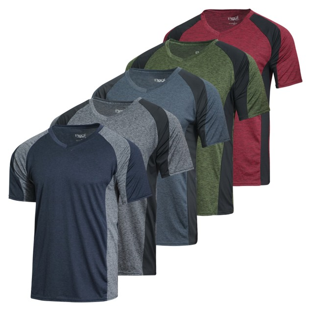 Mens 5-pk Dry Fit Active V-Neck Shirt (S-3X)