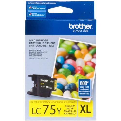 Brothers BRTLC75Y - Brother LC75Y LC-75Y Innobella High-Yield Ink,Yellow
