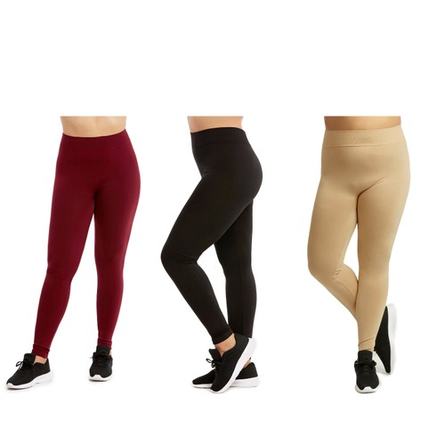 3-Pack: Plus Size Women's Casual Ultra-Soft Workout Yoga Leggings