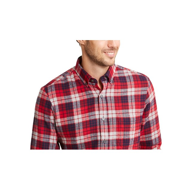 Club Room Men's Flannel Shirt Red Size XX-Large