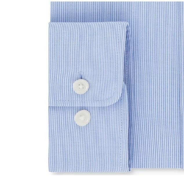 Tommy Hilfiger TH Flex Collar Fineline Stripe Dress Shirt 17.5x36-37