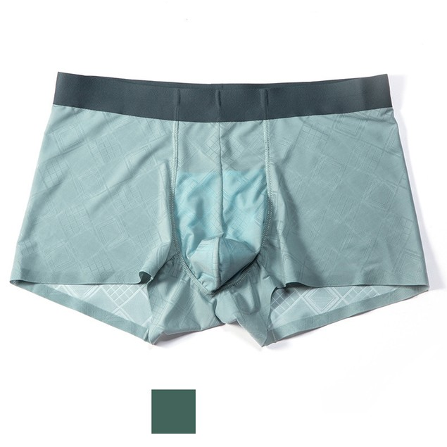 Ultra-Thin Breathable Ice Silk Men's Youth Boxer Briefs