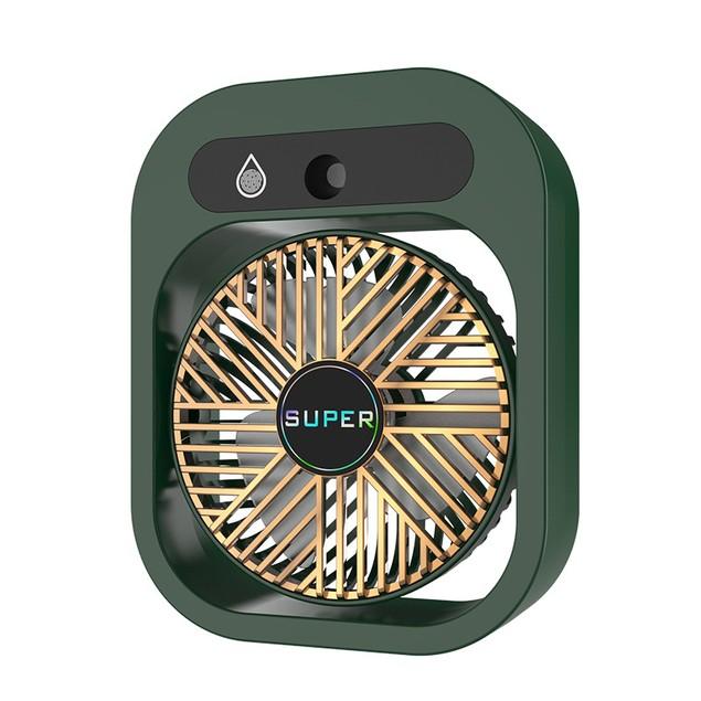 Spray Air Conditioner Fan Usb Mini Silent High Wind Rechargeable Desktop Fan