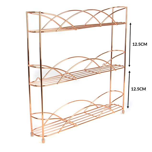 3 Tier Herb and Spice Rack | MandW Rose Gold