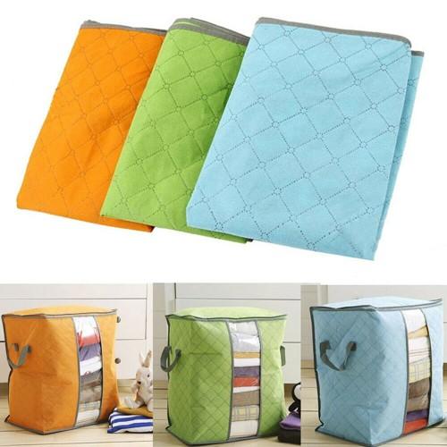 Portable Organizer Non Woven Underbed Pouch Storage Bag Box Clothing Storage Bag
