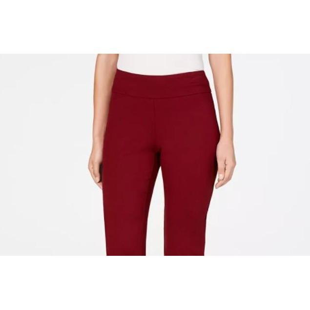 Charter Club Women's Cambridge Pull On Ponte Pants Mediun Red Size 8