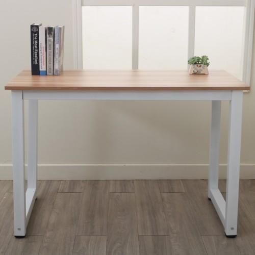 Oak 110CM Decent High Strength Wooden Computer Desk