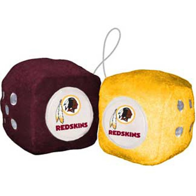 Washington Redskins Fuzzy Dice NFL Football Team Logo Plush Car Truck Auto