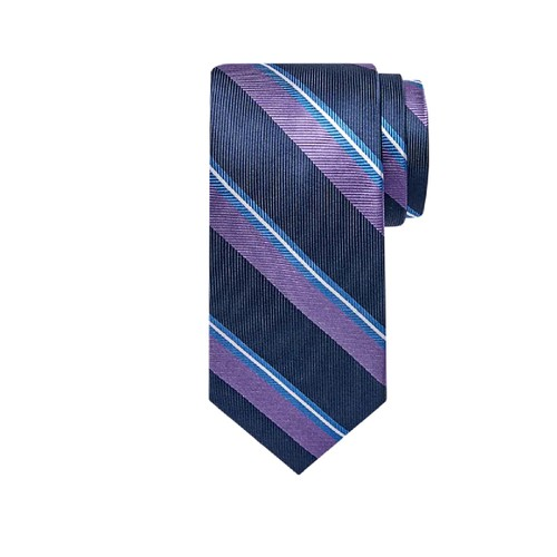 Tommy Hilfiger Men's Village Classic Stripe Tie Purple Size Regular