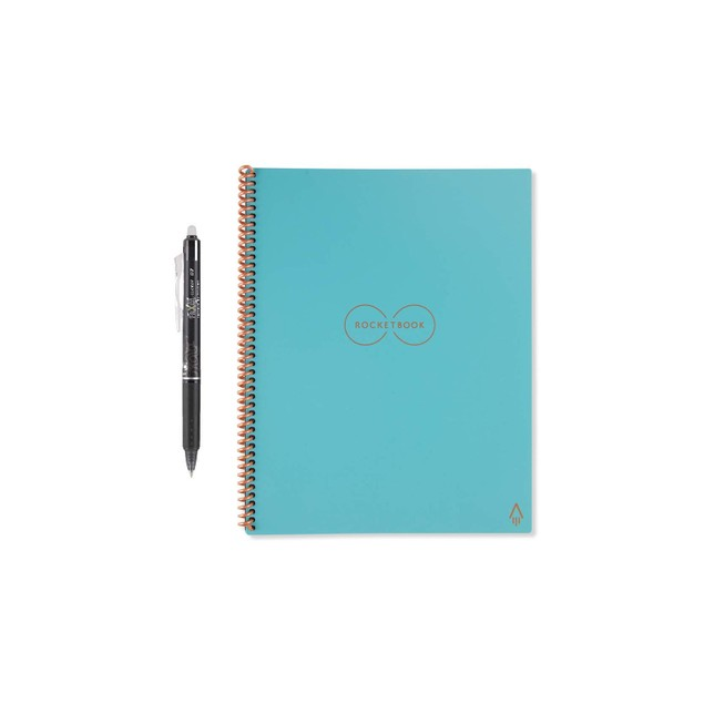 2-PACK Rocketbook Smart Reusable Notebook with 2 FriXion Pens
