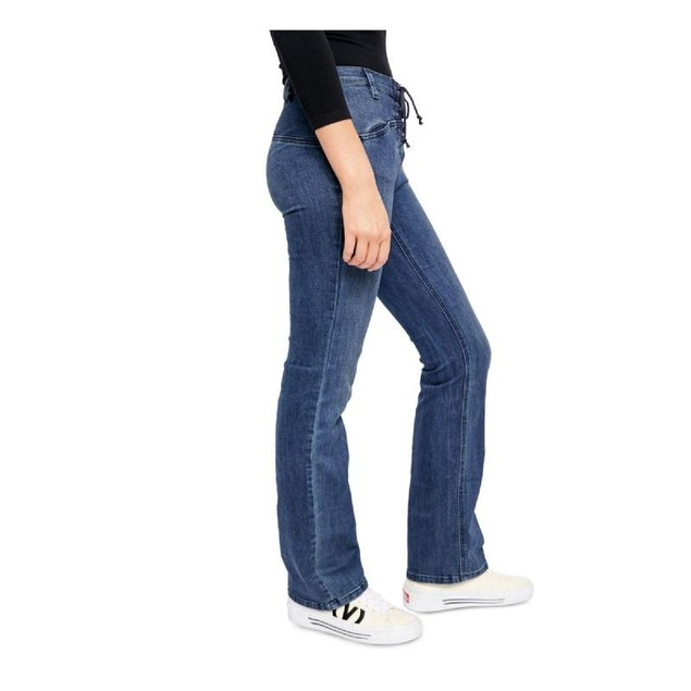 Free People Women's Eva Lace-Up Bootcut Jeans Blue Size 27