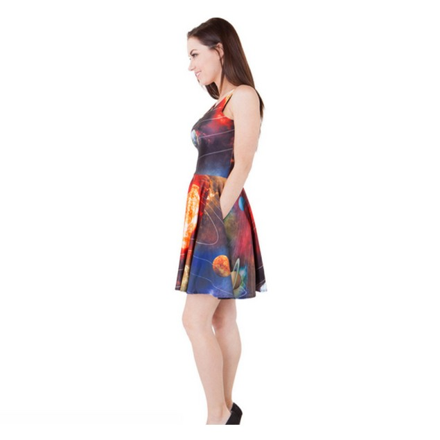 Ms. Frizzle Solar System MINI Dress Women's Costume