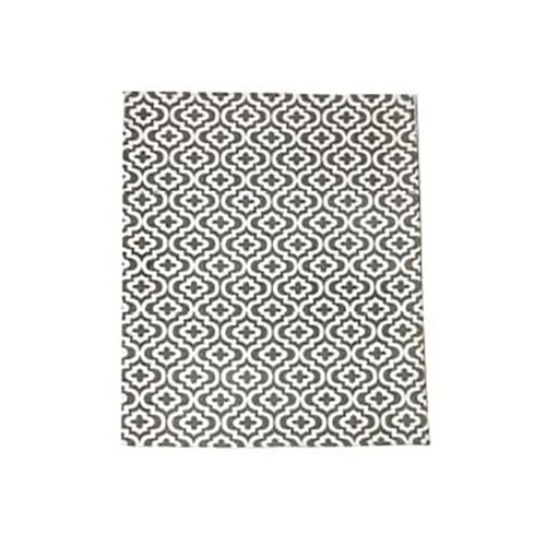 Silver Lantern Pattern Area Rug W/Carpet Backing 5X8 for Living Room