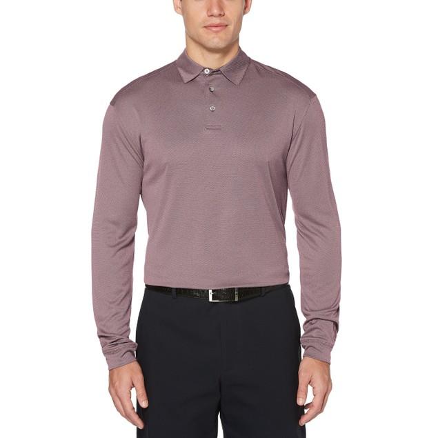 PGA Tour Men's Long-Sleeve Polo Purple Size Large