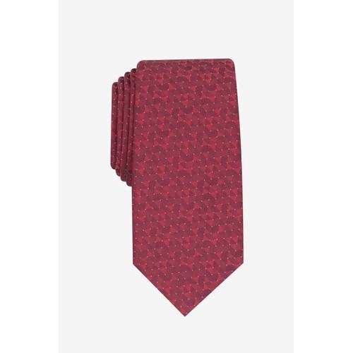 Alfani Men's Slim Geo Tie Red Dot Size Regular
