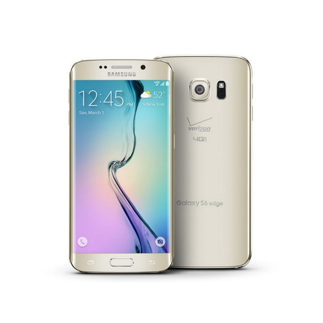 Samsung Galaxy S6 Edge, T-Mobile, Gold, 32 GB, 5.1 in Screen