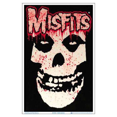 """Misfits Splatter Black Light 23"""" x 35"""" Poster Horror Punk Glenn Danzig Gift"""