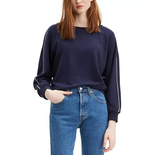 Levi's Women's Natalie Crewneck Sweatshirt Navy Size XX-Large