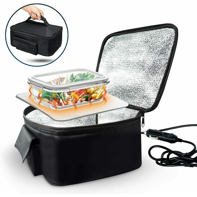 Zone Tech Car Travel Camping Heated Insulated Lunch Box Stove Carrying Case