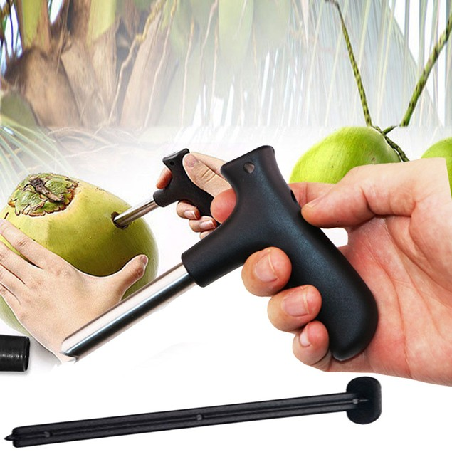 Kitchen Stainless Steel Coconut Opener Drilling tool knifel Party Gadgets